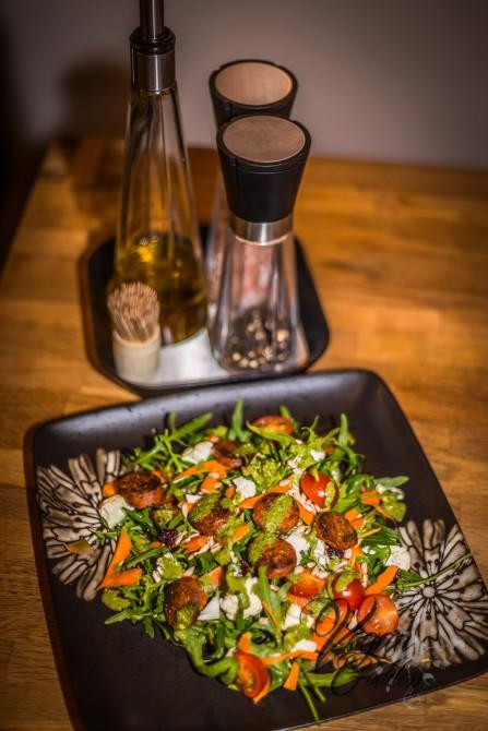 Salad with Sausage-2